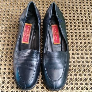 Cole Haan Glove Leather Black Loafers Italy Sz 5.5